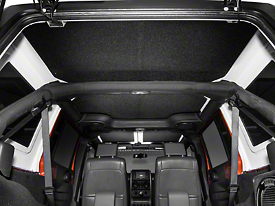Boom Mat Sound Deadening Headliner - Black (07-10 Jeep Wrangler JK 4 Door)