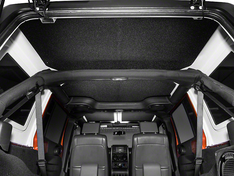 Boom Mat Sound Deadening Headliner - Black (11-18 Jeep Wrangler JK 4 Door)