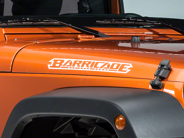Barricade Hood Decal - White (07-18 Jeep Wrangler JK)