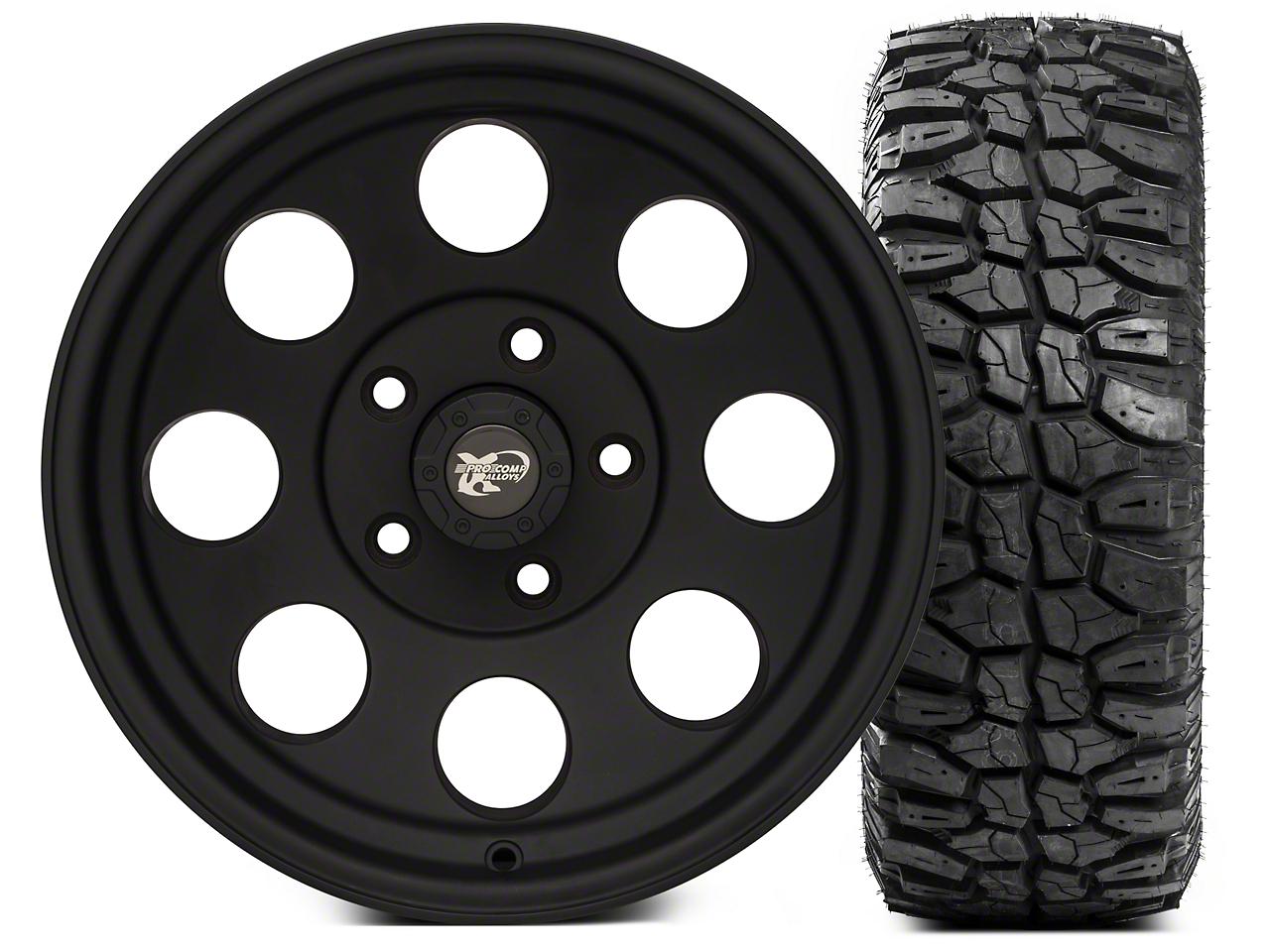 Pro Comp Alloy Series 7069 16x8 Wheel - and Extreme M/T 285/75/16 Kit (07-18 Wrangler JK)