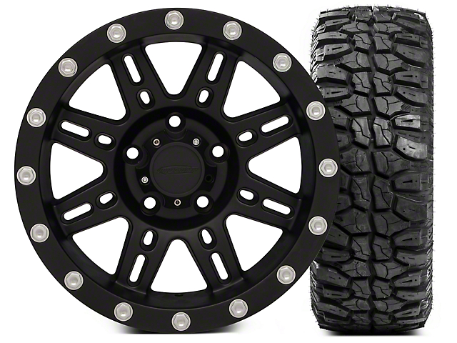 Pro Comp Wheels Alloy Series 7031 16x8 Wheel; and Extreme M/T 315/75/16 Kit (07-18 Jeep Wrangler JK)