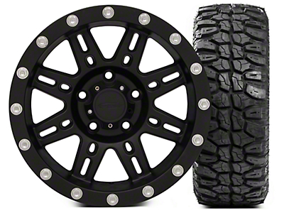Pro Comp Alloy Series 7031 17x9 and Extreme M/T 305/65/17 Kit (07-18 Wrangler JK)