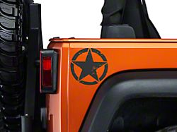 Small On The Move Stars - Matte Black - Pair (87-20 Jeep Wrangler YJ, TJ, JK & JL)