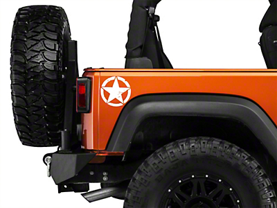XT Graphics Small On The Move Stars - White - Pair (87-18 Jeep Wrangler YJ, TJ, JK & JL)