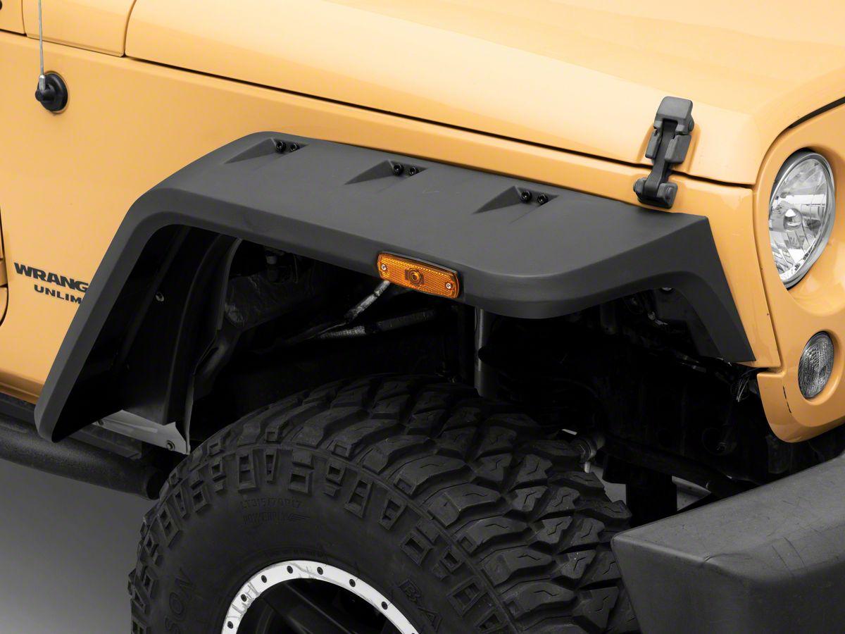 Rugged Ridge Hurricane Flat Fender Flares 07 18 Jeep Wrangler Jk