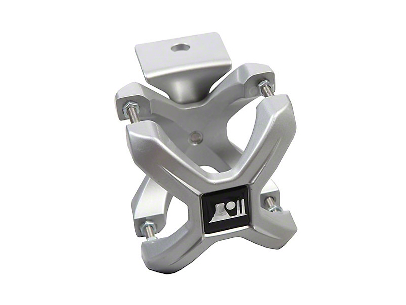 Rugged Ridge Silver X-Clamp for 2.25-3 in. Tubing (87-19 Jeep Wrangler YJ, TJ, JK & JL)