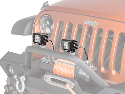 Rugged Ridge 3 in. Square LED Light Cube (87-18 Wrangler YJ, TJ, JK & JL)