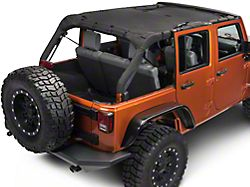 Rugged Ridge Full-Length Eclipse Sun Shade; Black (07-18 Jeep Wrangler JK 4 Door)