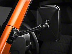 Rugged Ridge Quick Release Rectangular Mirrors - Black (07-18 Jeep Wrangler JK)