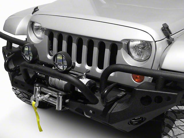 Wild Boar Aggressive Flare Grille - Unpainted (07-18 Jeep Wrangler JK)