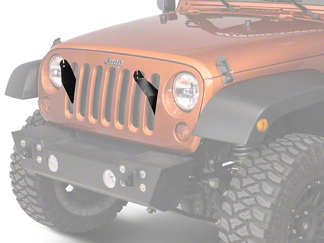 Lifetime LED 21 in. LED Light Bar Grille Mounting Brackets (07-18 Jeep Wrangler JK)