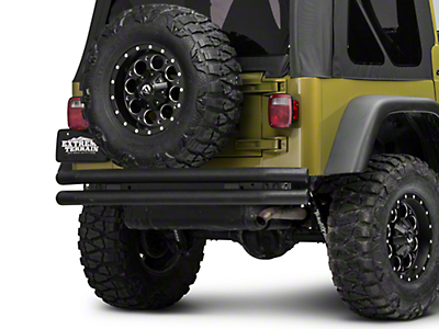 Barricade Double Tubular Rear Bumper - Textured Black (87-06 Wrangler YJ & TJ)