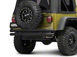 Barricade Double Tubular Rear Bumper - Textured Black (87-06 Jeep Wrangler YJ & TJ)