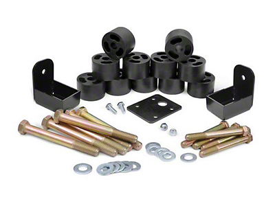 Rough Country 1.25 in. Body Lift Kit w/o Shocks (97-06 Jeep Wrangler TJ)