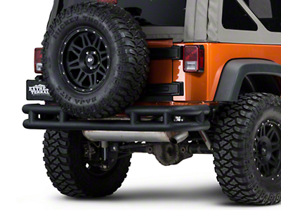 Barricade Rear Tubular Bumper w/ Wrap-around - Textured Black (07-18 Wrangler JK)