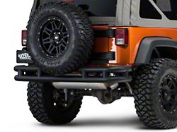 Barricade Rear Tubular Bumper w/ Wrap-around - Textured Black (07-18 Jeep Wrangler JK)