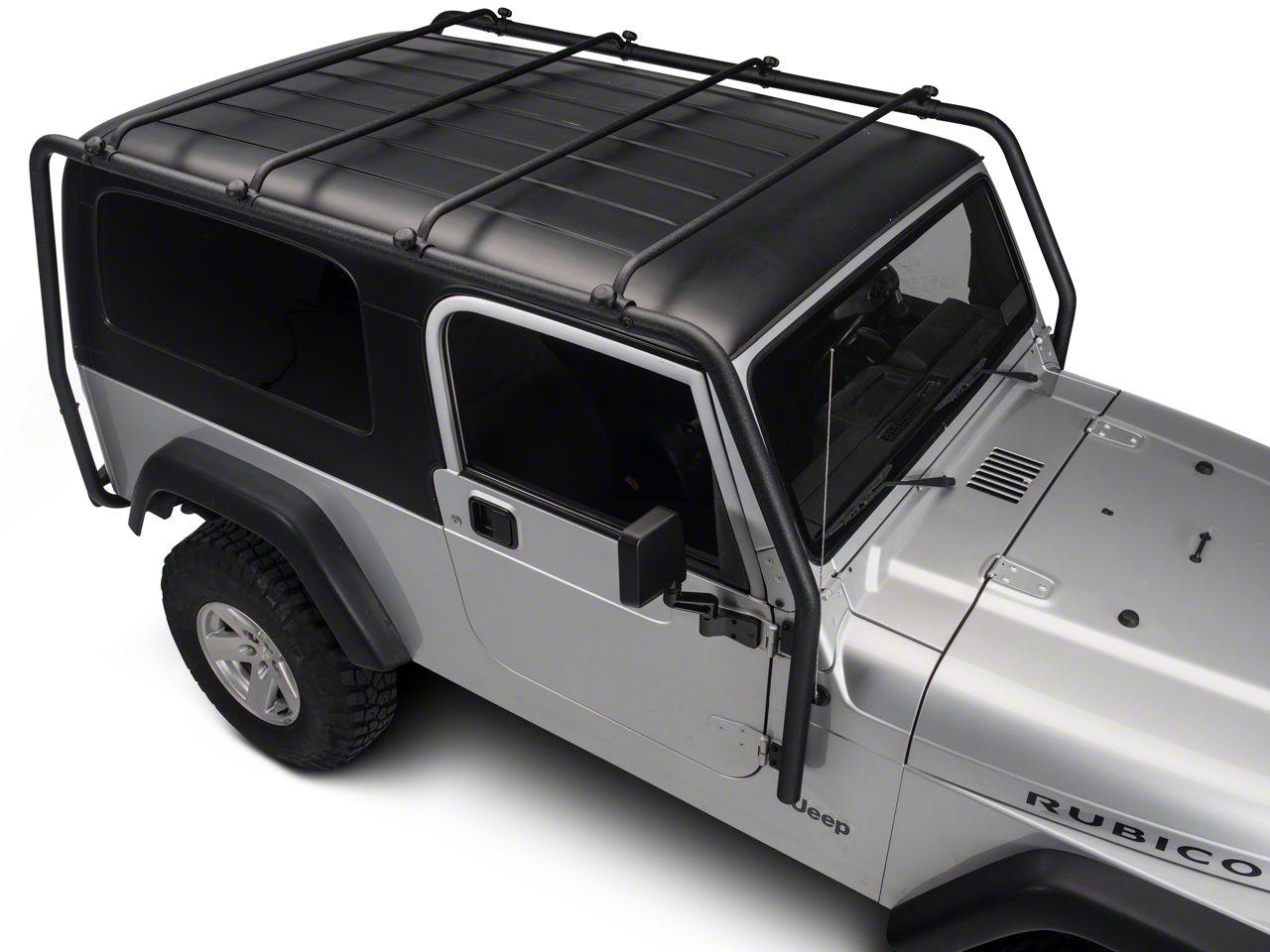 Barricade Jeep Wrangler Roof Rack Textured Black J100532 04 06 Jeep Wrangler Tj Unlimited