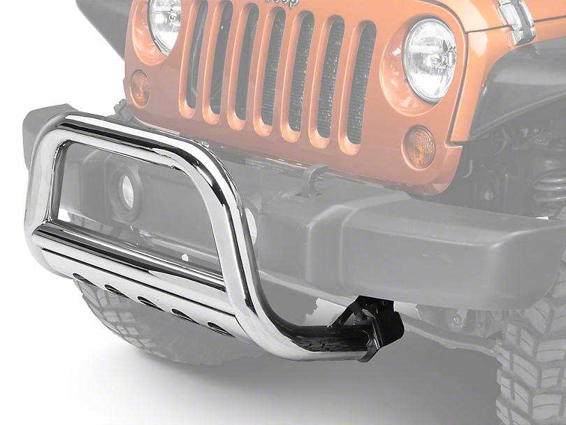 Barricade 3 in. Bull Bar w/ Skid Plate - Stainless Steel (10-18 Jeep Wrangler JK)