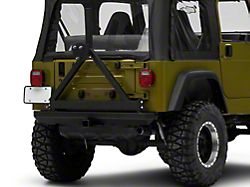 RedRock 4x4 Rock Crawler Rear Bumper with Tire Carrier; Textured Black (87-06 Jeep Wrangler YJ & TJ)
