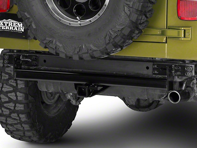 RedRock 4x4 Hitch; Gloss Black (87-06 Jeep Wrangler YJ & TJ)