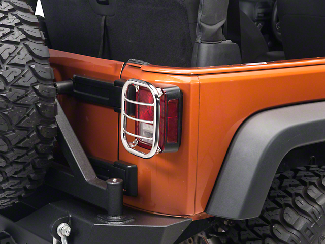 RedRock 4x4 Tail Light Guard - Stainless Steel (07-18 Wrangler JK)