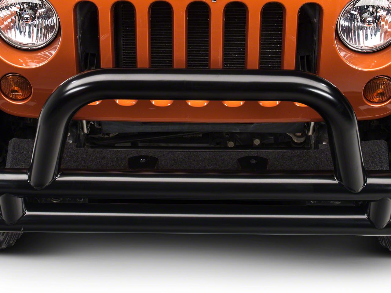 RedRock 4x4 Front Fill Plate - Textured Black (07-18 Jeep Wrangler JK)