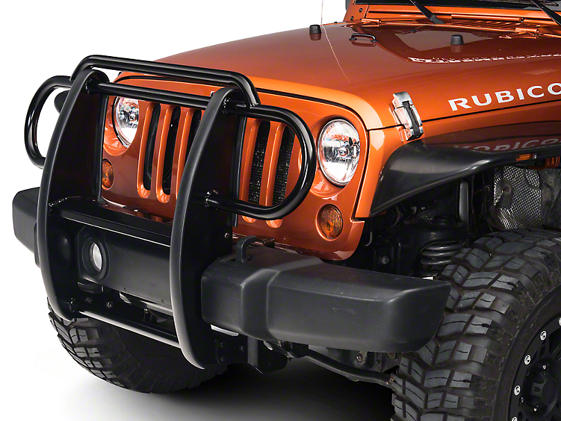 RedRock 4x4 Grille Guard - Gloss Black (07-18 Jeep Wrangler JK)