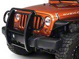 RedRock 4x4 Grille Guard; Gloss Black (07-18 Jeep Wrangler JK)