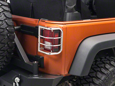 RedRock 4x4 Wrap Around Tail Light Guard - Stainless Steel (07-17 Wrangler JK)