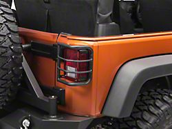 RedRock 4x4 Wrap-Around Tail Light Guards; Textured Black (07-18 Jeep Wrangler JK)