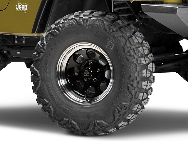 Mammoth 8 Black Wheel; 15x8 (97-06 Jeep Wrangler TJ)