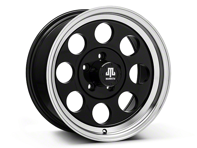 Mammoth 8 Black Wheel; 16x8 (87-95 Jeep Wrangler YJ)