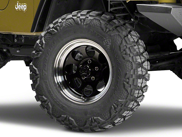 Mammoth 8 Black Wheel; 16x8 (97-06 Jeep Wrangler TJ)