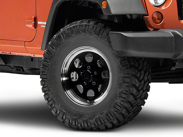Mammoth 8 Aluminum Black Wheel - 16x8 (07-18 Jeep Wrangler JK; 2018 Jeep Wrangler JL)