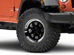 Mammoth 8 Aluminum Black Wheel; 16x8 (07-18 Jeep Wrangler JK)