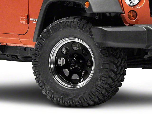 Mammoth 8 Aluminum Black Wheel - 17x9 (07-18 Jeep Wrangler JK; 2018 Jeep Wrangler JL)