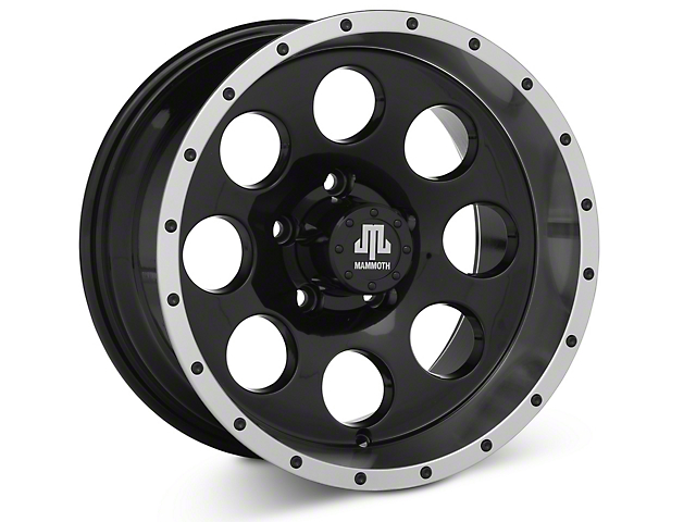 Mammoth 8 Beadlock Style Black Wheel - 15x8 (87-95 Jeep Wrangler YJ)