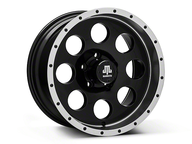 Mammoth 8 Beadlock Style Black Wheel; 16x8 (87-95 Jeep Wrangler YJ)