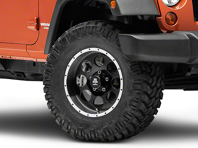 Mammoth 8 Beadlock Style Black Wheel - 17x9 (07-18 Jeep Wrangler JK)