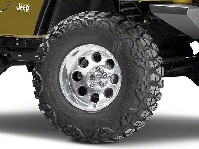 Mammoth 8 Beadlock Style Polished Wheel - 15x8 -19mm Offset (87-06 Jeep Wrangler YJ & TJ)