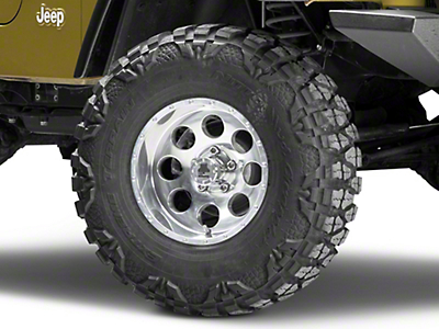 Mammoth 8 Beadlock Style Polished Wheel - 15x8 (87-06 Wrangler YJ & TJ)