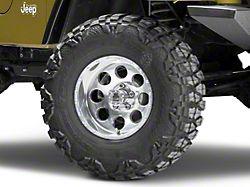 Mammoth 8 Simulated Beadlock Style Polished Wheel; 15x8 (97-06 Jeep Wrangler TJ)