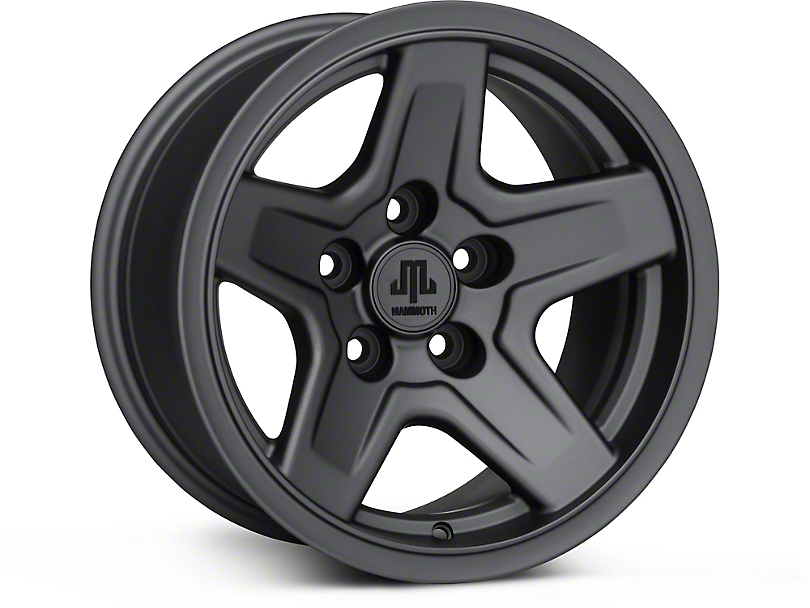 Mammoth Boulder Charcoal Wheel - 15x8 (87-95 Jeep Wrangler YJ)