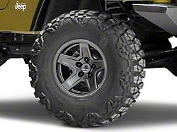 Mammoth Boulder Charcoal Wheel; 15x8 (97-06 Jeep Wrangler TJ)