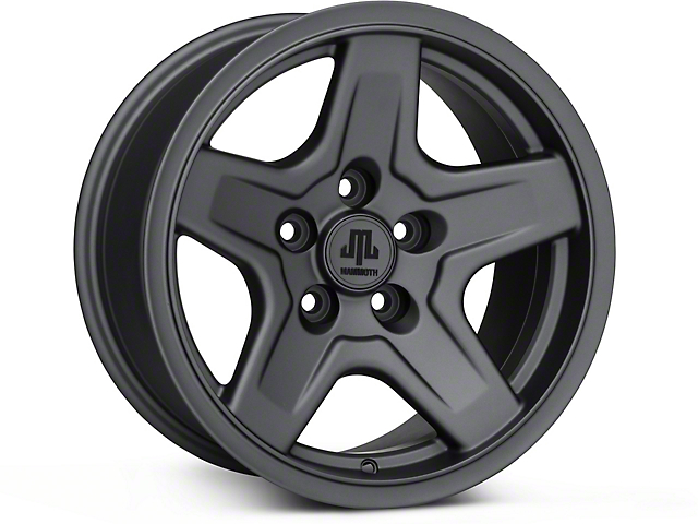 Mammoth Boulder Charcoal Wheel; 16x8 (87-95 Jeep Wrangler YJ)