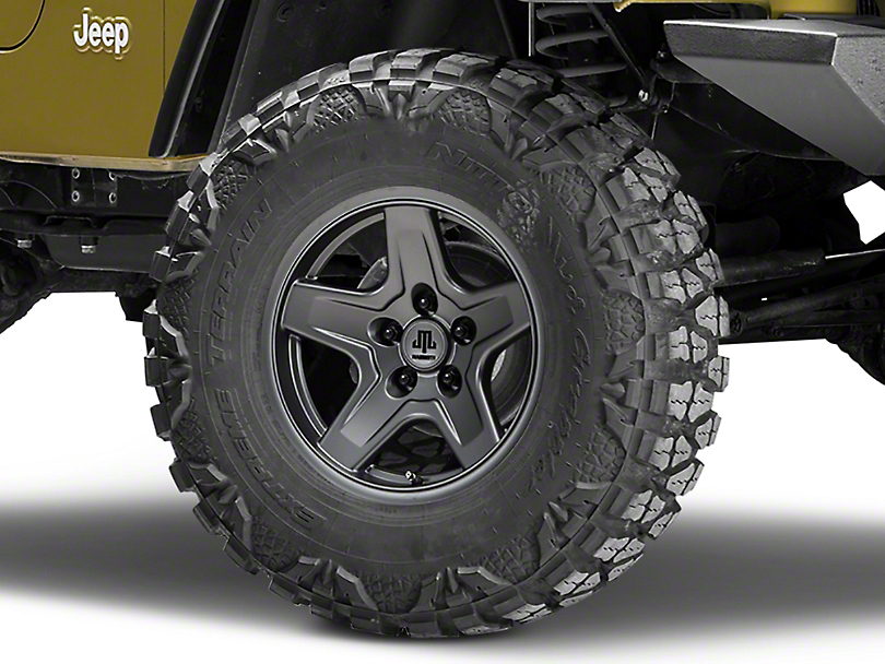 Mammoth Boulder Charcoal Wheel - 16x8 (87-06 Jeep Wrangler YJ & TJ)