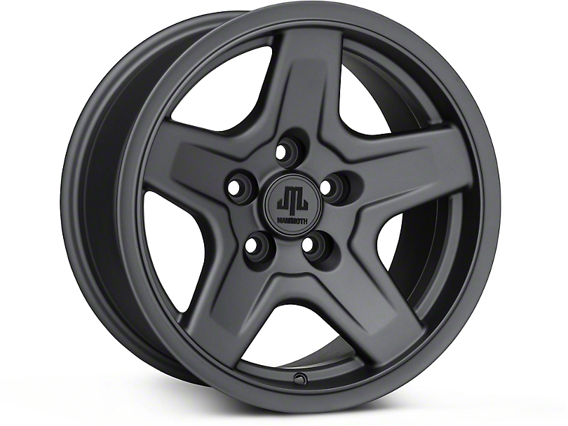 Mammoth Boulder Charcoal Wheel - 16x8 (87-95 Jeep Wrangler YJ)