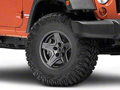 Mammoth Boulder Charcoal Wheel - 16x8 (07-17 Wrangler JK)