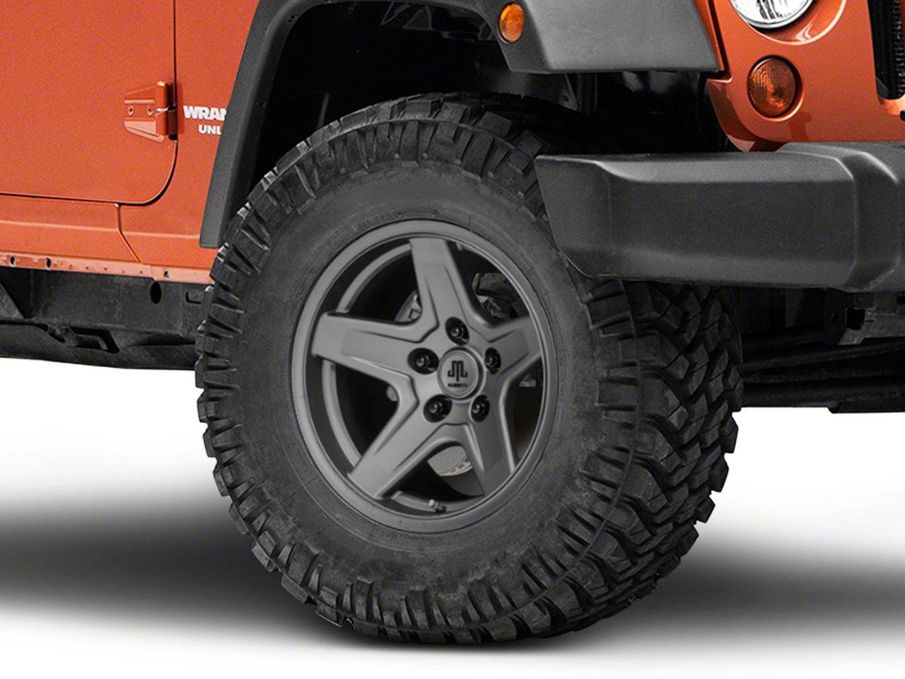 Mammoth Boulder Charcoal Wheel - 17x9 (07-18 Jeep Wrangler JK; 2018 Jeep Wrangler JL)