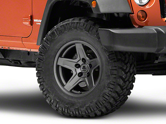 Mammoth Boulder Charcoal Wheel; 17x9 (07-18 Jeep Wrangler JK)